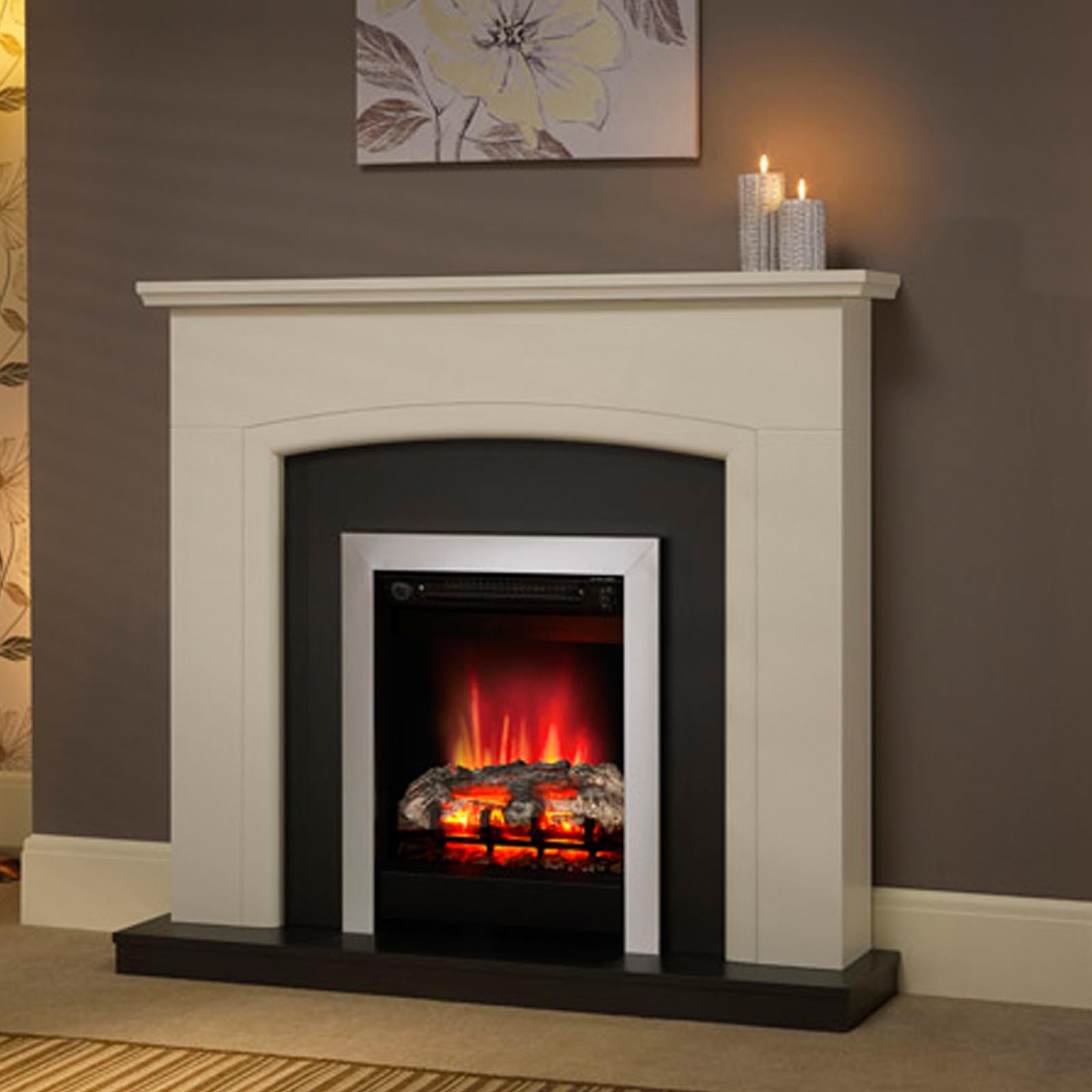Bargain deals be modern hayden 46quot fireplace suite for 3 benefits of choosing modern electric fireplace