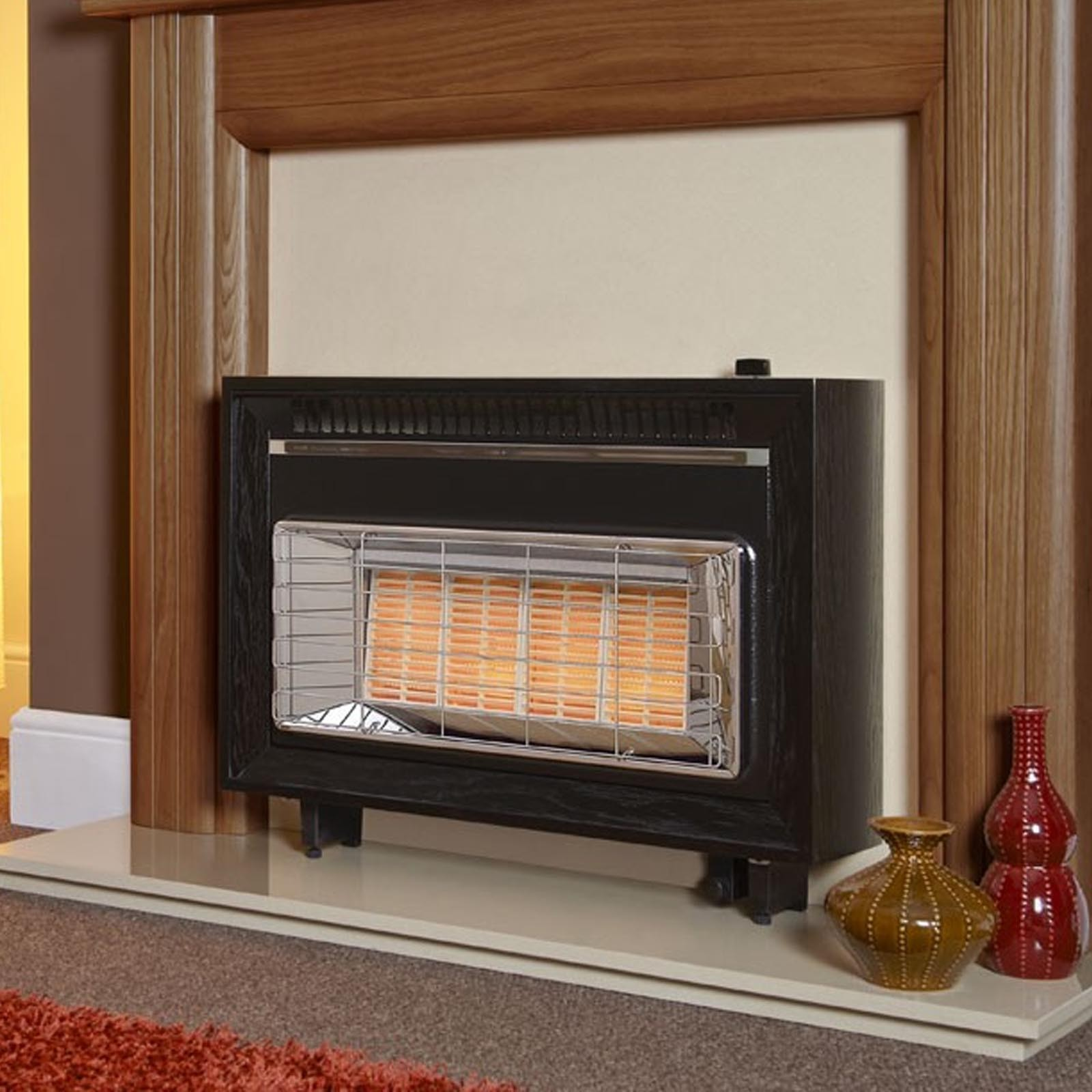 high efficiency wood burning fireplace. Flavel Misermatic Black High Efficiency Gas Fire Wood Burning Fireplace A