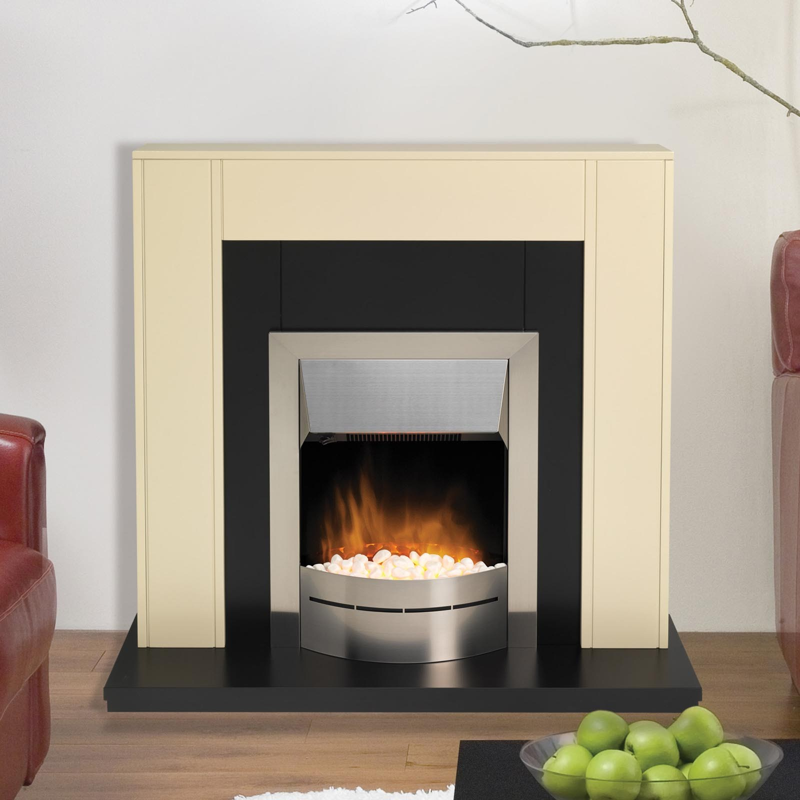 Amazing Low Prices Dimplex Montclair Stainless Steel Optiflame Electric Fire Quick Free