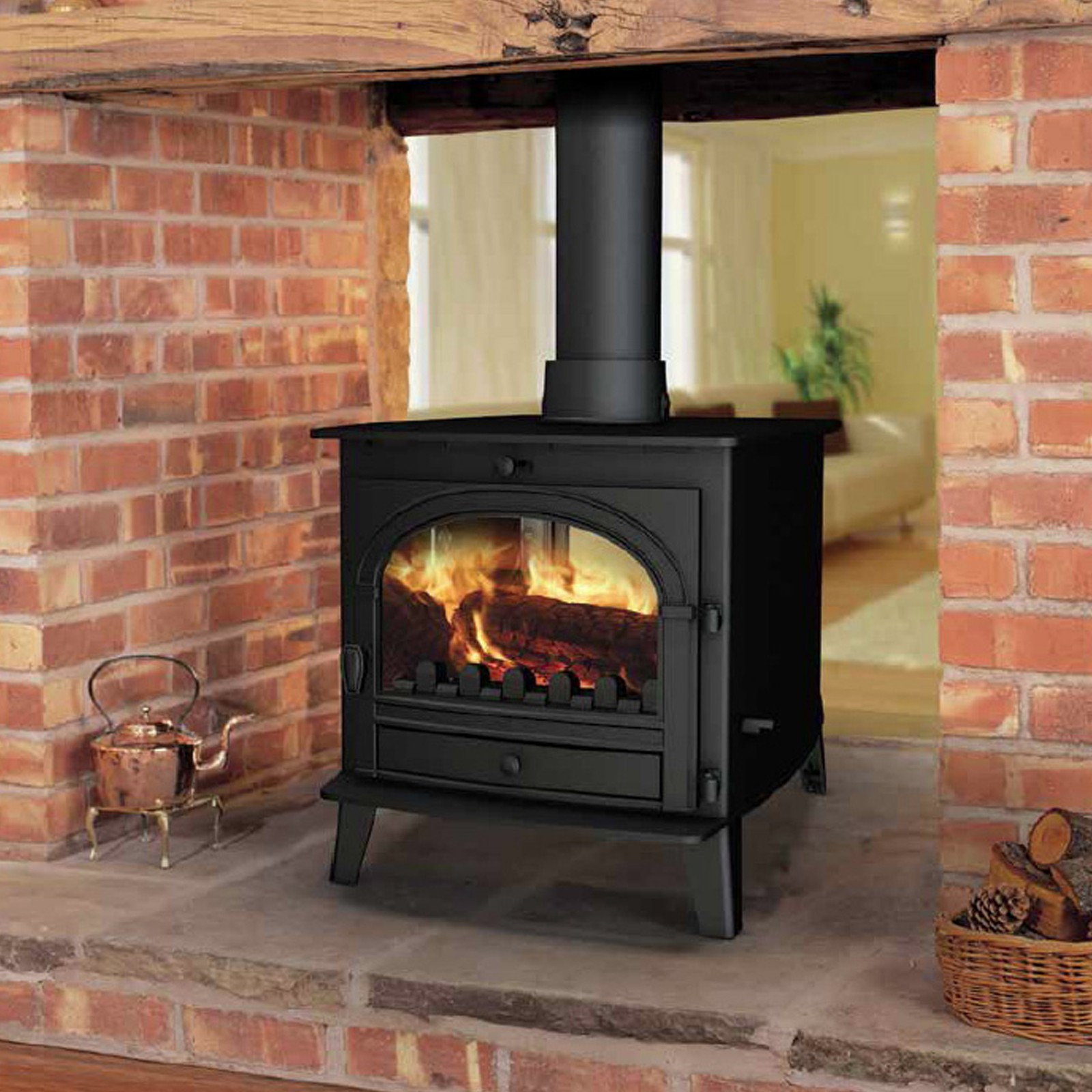 Superb Beauty Parkray Consort 7 Double Sided Woodburning