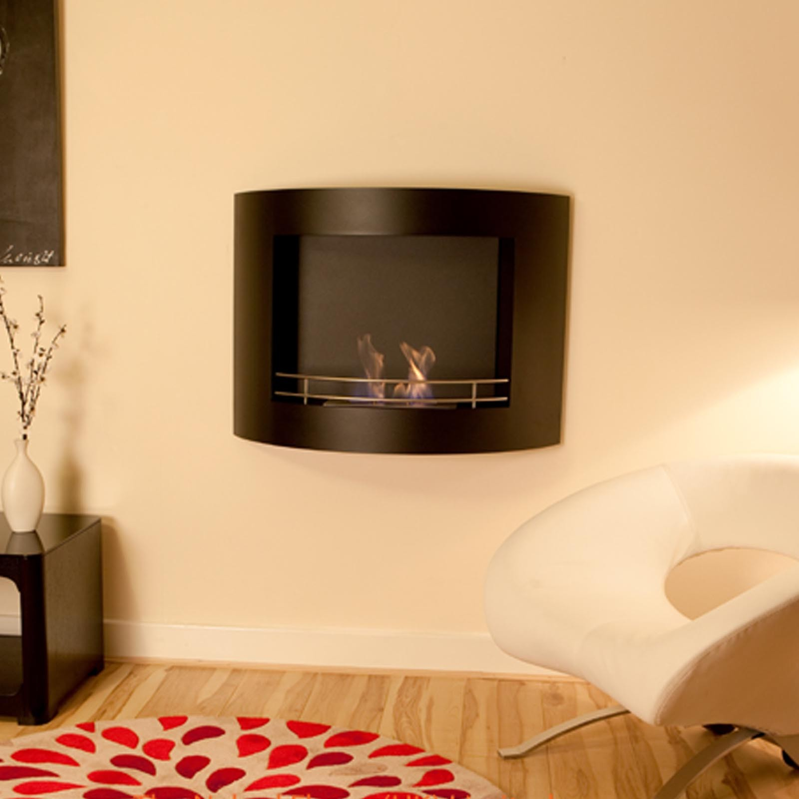 amazing prices the flame crescent bio ethanol wall mounted