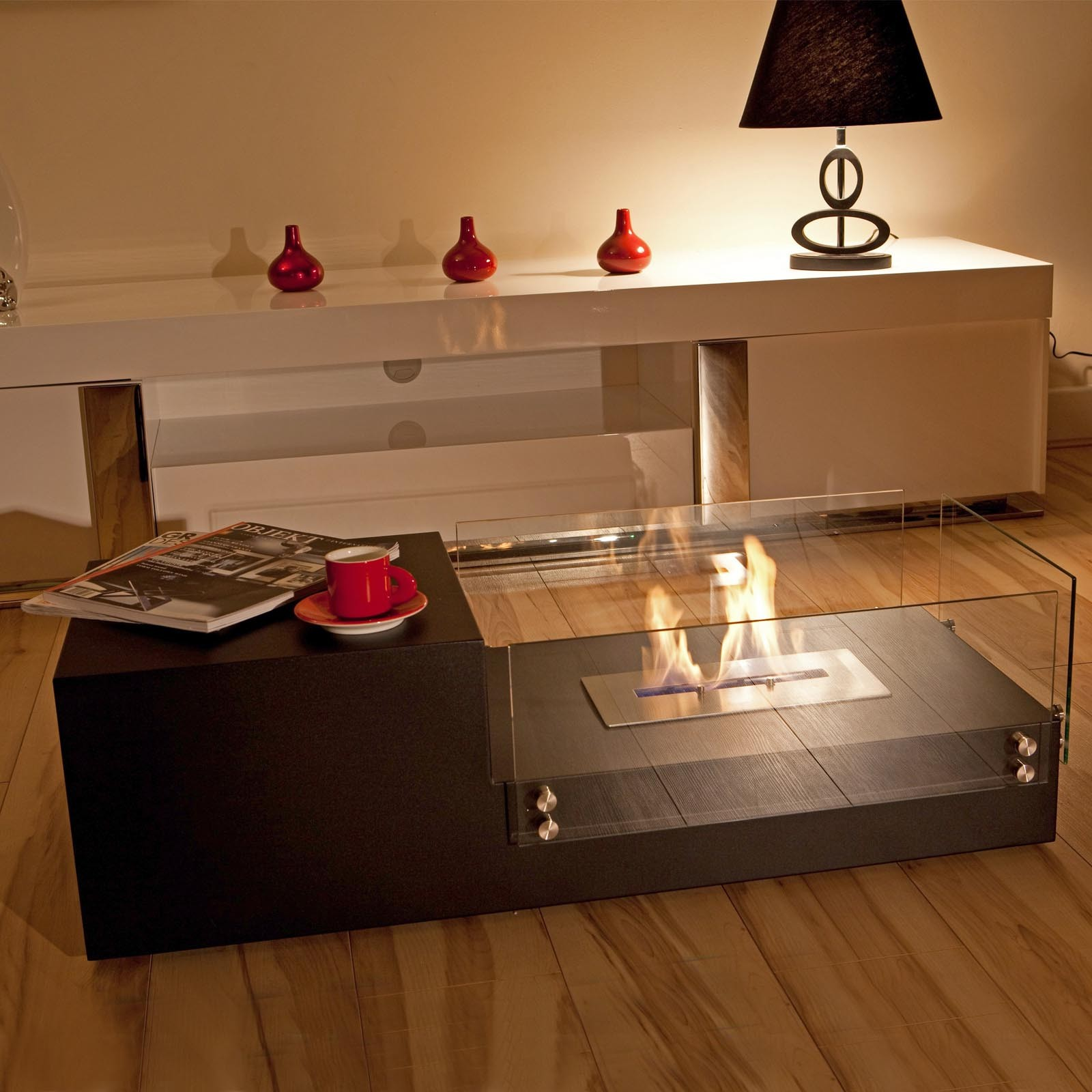 top quality  the naked flame dual bio ethanol freestanding fire  - the naked flame dual bio ethanol freestanding fire table