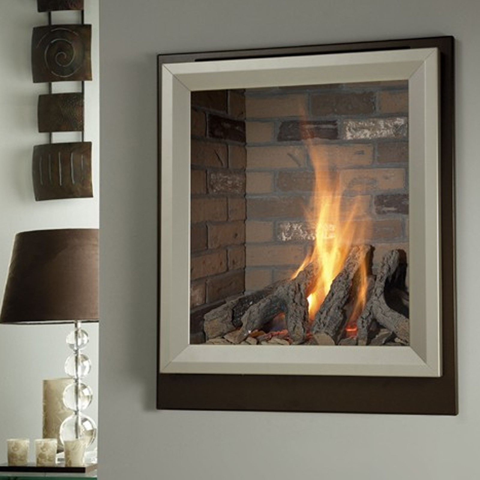 Modern Fire Verine Meridian He High Efficiency Gas Fire