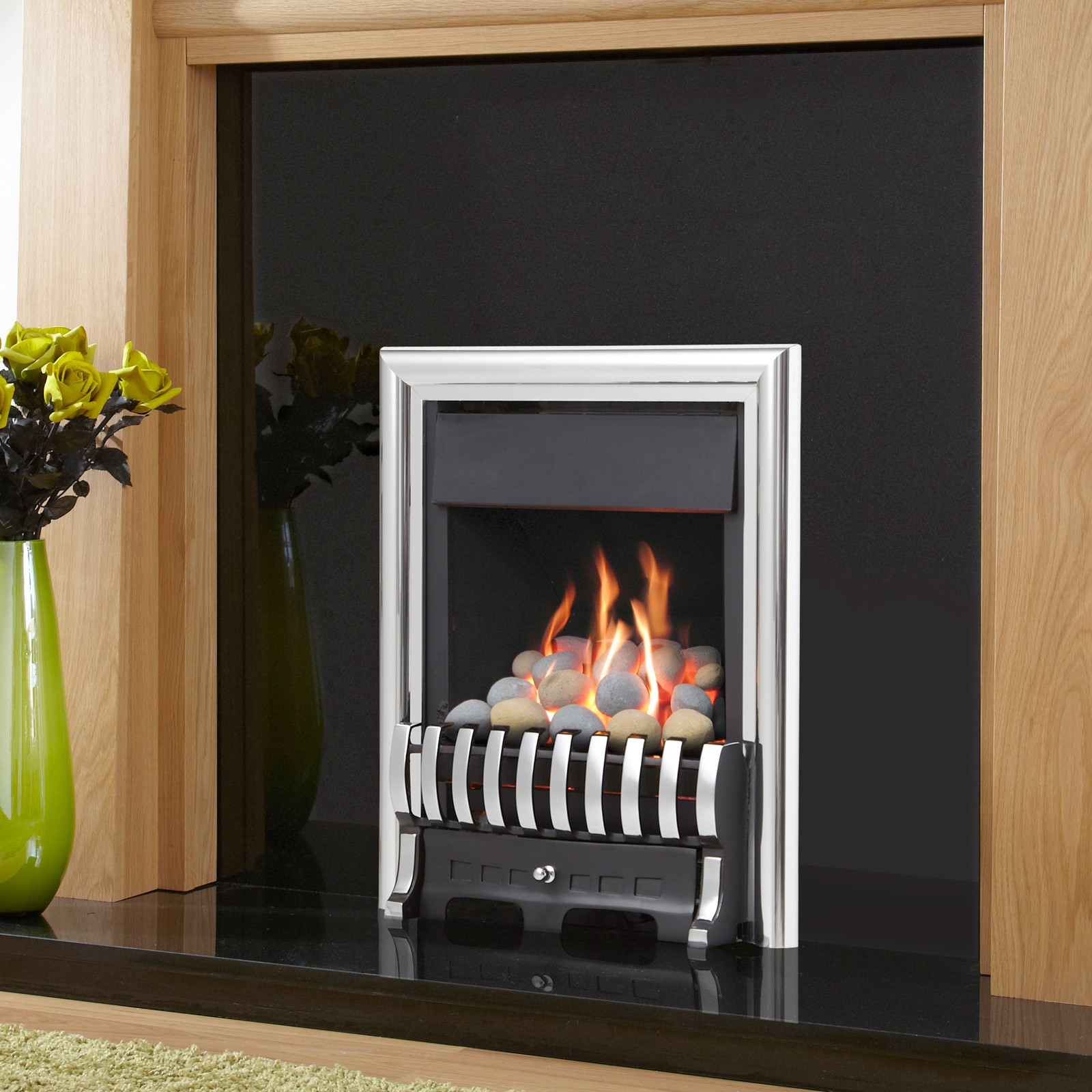 modern silver fire verine midas plus slimline gas fire low