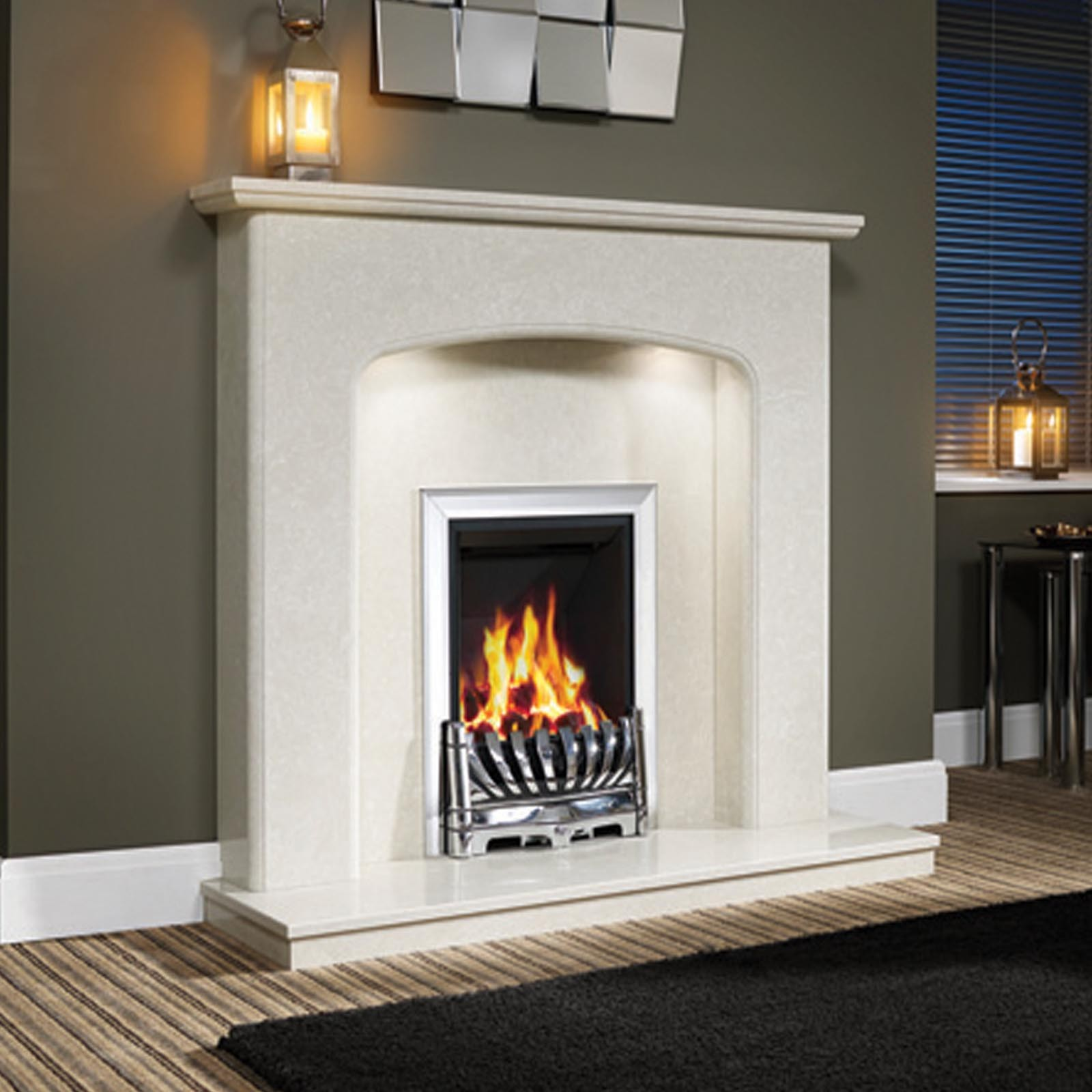 Simple Style Be Modern Viola 48 Fireplace Surround