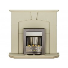 Fireplaces 4 Life Abbey 48'' Helios Electric Fireplace Suite