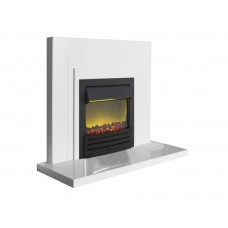 Fireplaces 4 Life Belair 48'' White Marble Fireplace Suite