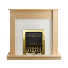 Fireplaces 4 Life Boston Oak 47'' Blenheim Electric Fireplace Suite