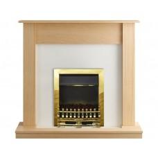 Fireplaces 4 Life Boston Oak 47'' Blenheim Electric Fireplace Suite