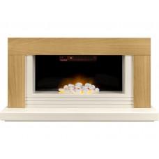 Fireplaces 4 Life Carrera 48'' Oak Veneer Electric Fireplace Suite