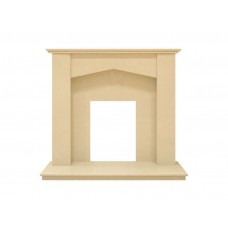 Fireplaces 4 Life Georgia 48'' Beige Stone Marble Fireplace