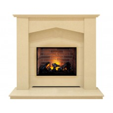 Fireplaces 4 Life Georgia 48'' Marble Electric Fireplace Suite