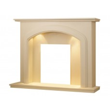 Fireplaces 4 Life Lincoln 54'' Roman Stone Marble Fireplace