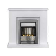 Fireplaces 4 Life Lomond Cream 39'' Helios Electric Fireplace Suite