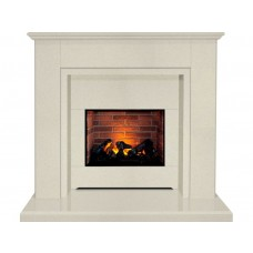 Fireplaces 4 Life Melbourne 48'' Beige Stone Electric Fireplace Suite