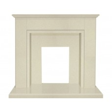 Fireplaces 4 Life Melbourne 48'' Beige Stone Marble Fireplace