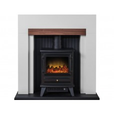 Fireplaces 4 Life Salzburg 48'' Electric Stove Fireplace Suite