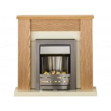 Fireplaces 4 Life Solus Oak 39'' Electric Fireplace Suite