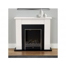 Fireplaces 4 Life Stratton 35'' Cream Electric Fireplace Suite