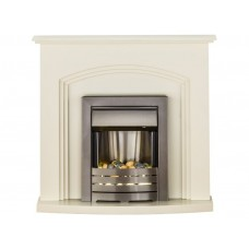 Fireplaces 4 Life Truro Cream 41'' Helios Electric Fireplace Suite