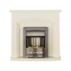 Fireplaces 4 Life Truro Cream 41'' Helios Electric Fireplace Suite