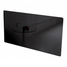 Adam Vitreo Medium Black Glass Radiator Cover
