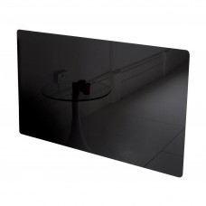Adam Vitreo Small Black Glass Radiator Cover