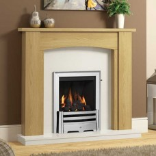 "Be Modern Ambleton 44"" Natural Oak Veneer Fireplace Suite"