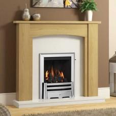"Be Modern Ambleton 44"" Natural Oak Veneer Fireplace Suite"