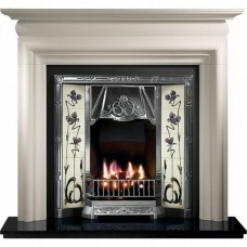 Gallery Asquith Limestone Fireplace Includes Toulouse Cast Iron Tiled Insert