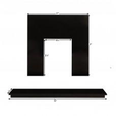 Fireplaces 4 Life Black Granite Back Panel & Hearth