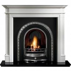 Gallery Bartello Limestone Fireplace Includes Henley Cast Iron Arch