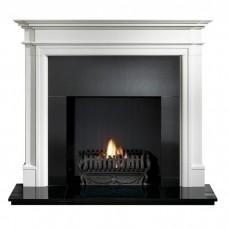 Gallery Bartello Limestone Fireplace Includes Optional Nexus Fire Basket