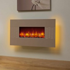Be Modern Orlando Cappucino Hang on Wall Electric Fire