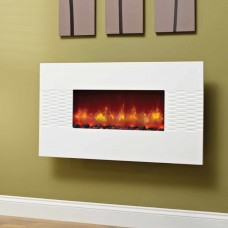 Be Modern Orlando Gloss White Hang on Wall Electric Fire