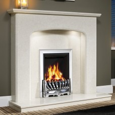 "Be Modern Viola 48"" Marble Fireplace Suite"
