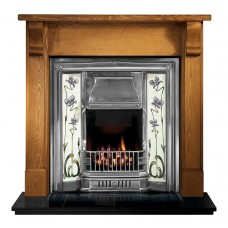 Gallery Bedford Wood Fireplace Includes Sovereign Cast Iron Tiled Insert