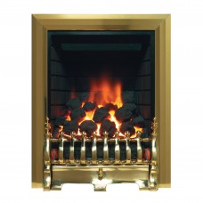 Be Modern Classic Inset Brass Gas Fire (Brick)