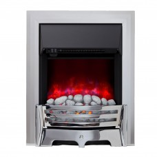 Be Modern Mayfair Chrome Electric Fire (Pebble)