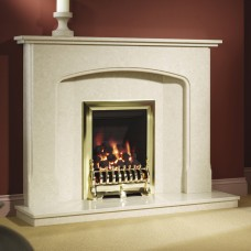 "Be Modern Octavia Manila Micro Marble 51"" Fireplace Suite"
