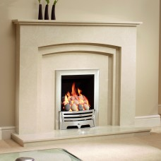 Be Modern Rossano Manila Micro Marble Fireplace Suite
