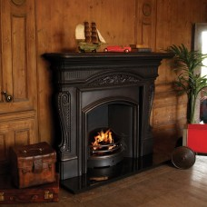 "Carron Buckingham 69"" Cast Iron Fireplace With London Plate Insert (Wide Opening)"