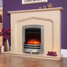 Celsi Electriflame Caress Bauhaus Hearth Mounted Electric Fire