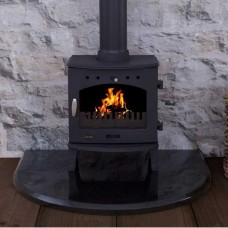 Carron 4.7kW Cast Iron Multifuel/Wood Burning Stove Matt Black