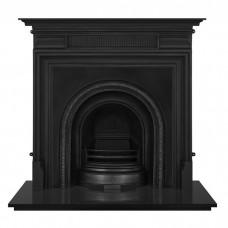 "Carron Belgrave 54"" Cast Iron Fireplace With Scotia Arch Matt Black"