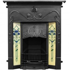 Carron Valentine Combination Cast Iron Fireplace Black