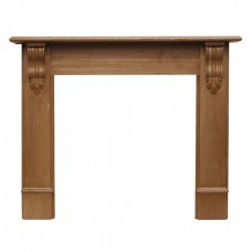 Carron Edinburgh Corbel 56'' Oak Wood Fire Surround
