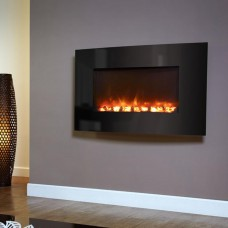 Celsi Electriflame® Curved Black Glass Electric Fire