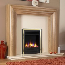 Celsi Ultiflame Contemporary Inset Electric Fire Brass & Black