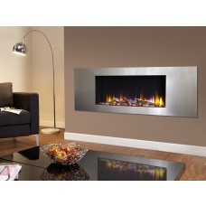 Celsi Ultiflame VR Metz Inset Wall Mounted Electric Fire Silver